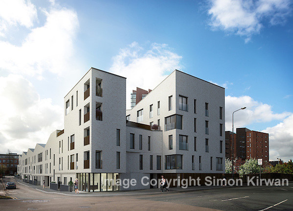Islington Wharf, Manchester - CGI photomontage: Soluis, architectural photography: Simon Kirwan