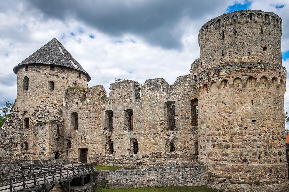 LATVIA, CESIS - CIRCA JUNE 2014: The Cesis Castle, (Wenden) in Latvia (Daniel Korzeniewski)