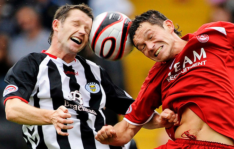 30TH AUG 2008, ST MIRREN V ABERDEEN AT ST MIRREN PARK, PAISLEY, STEVEN ROBB AND DEREK YOUNG, ROB CASEY PHOTOGRAPHY. (ROB CASEY/ROB CASEY PHOTOGRAPHY)