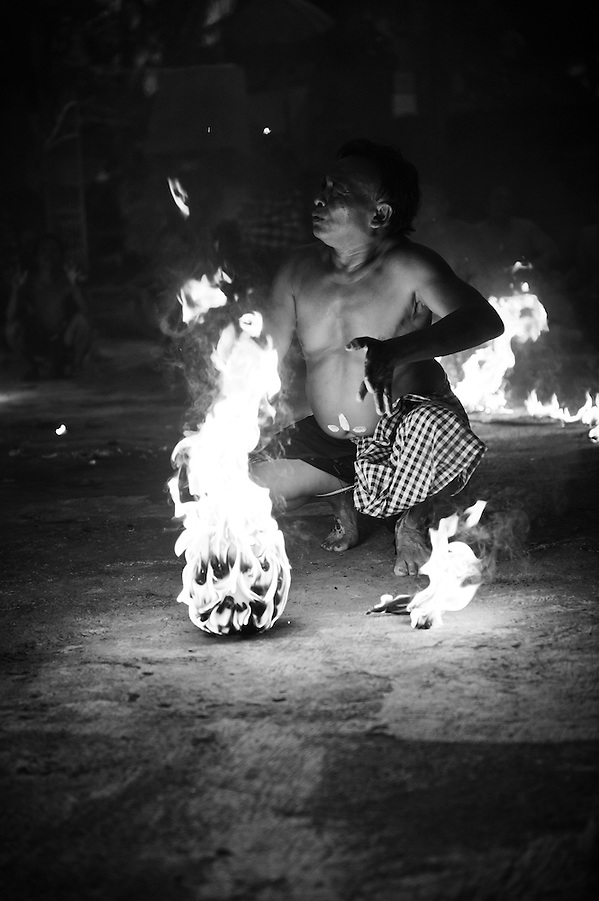 Kecak dance performance by Pak Reno, Ubud, Bali, Indonesia. (Matthew Oldfield)