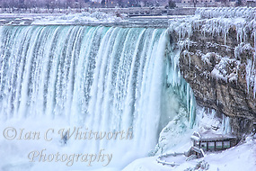 An icy and wintery view of the Canadian falls in Niagara. (Ian C Whitworth)