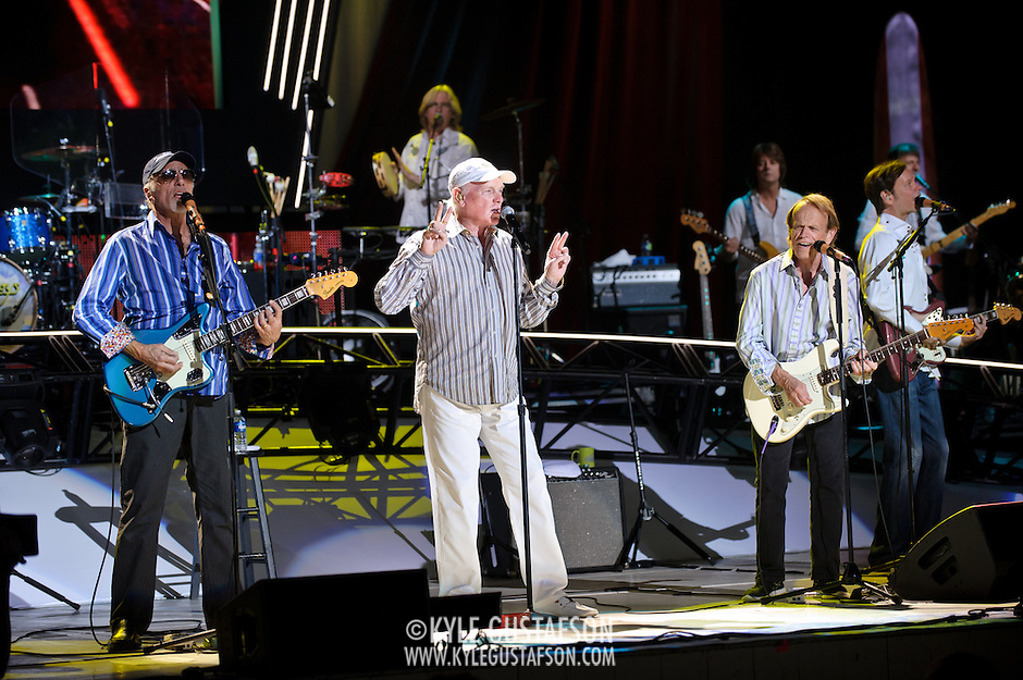 COLUMBIA, MD - June 15th, 2012 - The Beach Boys perform at Merriweather Post Pavilion as part of the band's 50th Anniversary Reunion Tour. This tour marks the first time chief songwriter Brian Wilson has done a full range of dates with the band since 1965. (Photo by Kyle Gustafson/For The Washington Post) (Kyle Gustafson/For The Washington Post)