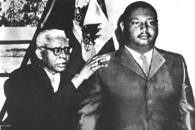 Los dos dictadores. El padre, Francois Duvalier, y el hijo Jean-Claude Duvalier.