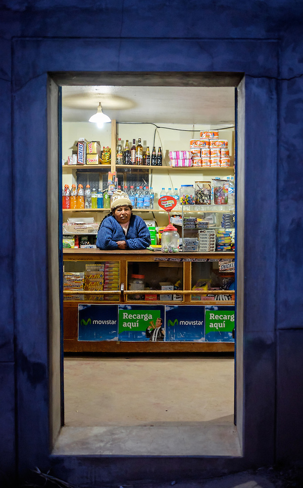 AMANTANI ISLAND, PERU - CIRCA APRIL 2014: Small grocery store in the Island of Amantani (Daniel Korzeniewski)