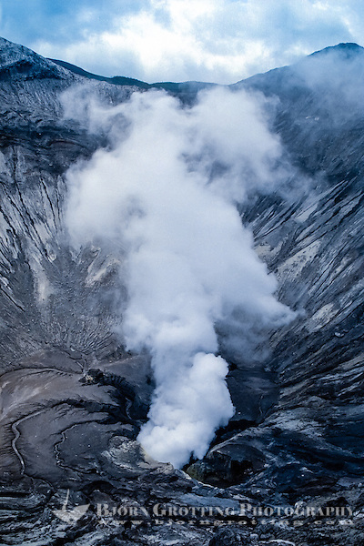 Java, East Java, Mount Bromo. Looking down in the smoking crater. (Photo Bjorn Grotting)