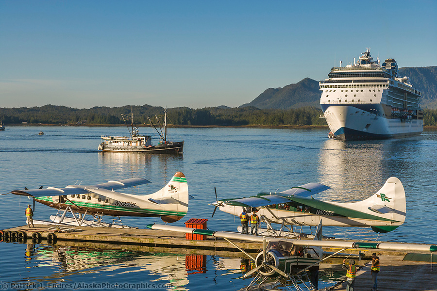 Ketchikan Alaska photos: Tourists board float planes for flightseeing near the Ketchikan area, southeast, Alaska. (Patrick J. Endres / AlaskaPhotoGraphics.com)
