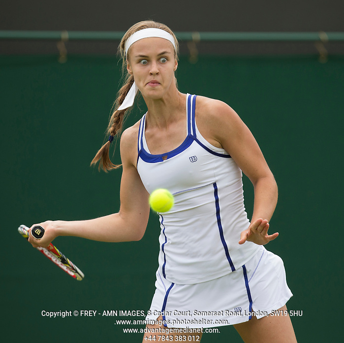 Anna Schmiedlova Tennis - The Championships Wimbledon  - Grand Slam -  All England Lawn Tennis Club  2013 -  Wimbledon - London - United Kingdom - Tuesday 25th June  2013.  © AMN Images, 8 Cedar Court, Somerset Road, London, SW19 5HU Tel - +44 7843383012 mfrey@advantagemedianet.com www.amnimages.photoshelter.com www.advantagemedianet.com www.tennishead.net (FREY - AMN IMAGES)
