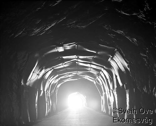 Alnes 20110910. Ettermiddagslyset skinner inn gjennom en tunnel ved Alnes på Godøya.  Foto: Svein Ove Ekornesvåg (Svein Ove Ekornesvåg)