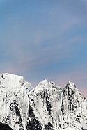 Dawn sky over Mount Index, Central Washington Cascade Mountains, Snohomish County, Washington, USA (Copyright Brad Mitchell Photography.9601 Wall St.Snohomish, WA 98296.USA.425-418-7279.brad@bradmitchellphoto.com)