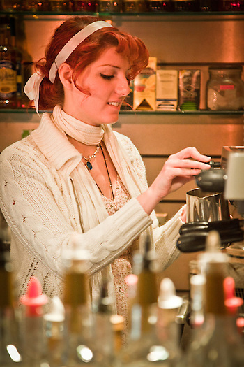 Barista, Claire Kiernan, The French Bean, mid-town, Anchorage (Clark James Mishler)