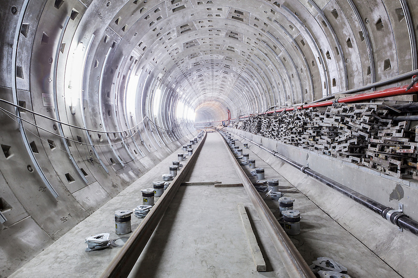 A partially completed tunnel on Taipei's expanding MRT system. In February 2012, the system saw its 5 billionth passenger. (Craig Ferguson)