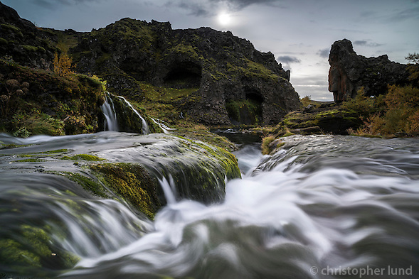 Rauðá river running through Gjáin in Þjórsárdalur, South Iceland. (Christopher Lund/©2014 Christopher Lund)