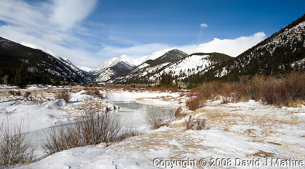 Winter, Rocky Mountain National Park, Colorado. Image taken with a Nikon D3 and 14-24 mm f/2.8 lens (ISO 200, 24 mm, f/11, 1/640 sec) (David J Mathre)