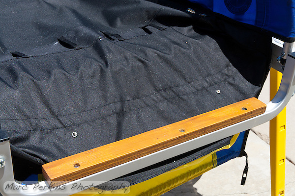 The lower riser attached to the rail of the trailer using self-tapping screws. (Marc Perkins)