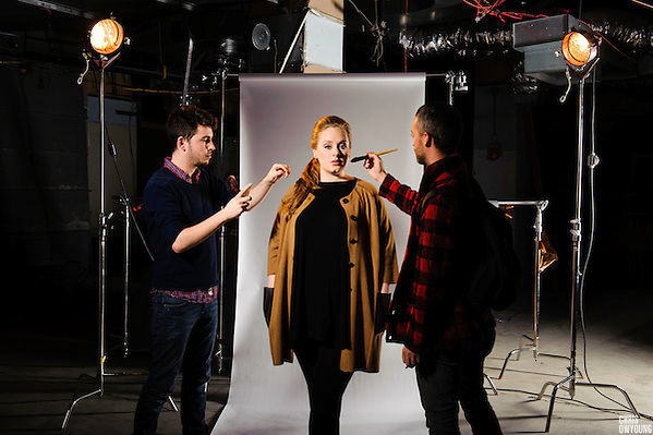 Adele photographed at PC Richard & Son Theater for iheartradio.com. New York, New York, February 2011. (Chris Owyoung / www.onelouderphoto.com)