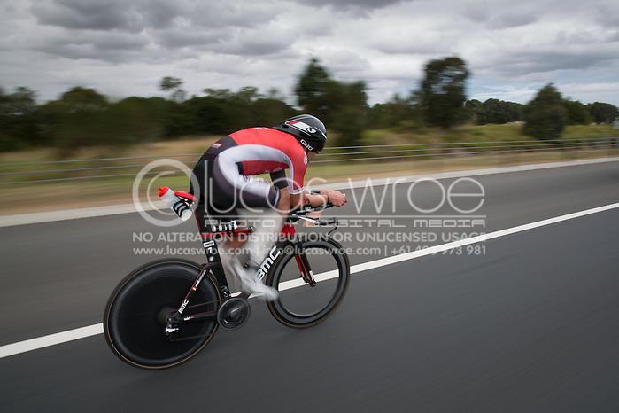 Axel Zeebroek (BEL), March 23, 2014 - Ironman Triathlon : Bike Course. Ironman Melbourne Race, Bike Cycle Course Between Frankston And Ringwood Tunnel, Melbourne, Victoria, Australia. Credit: Lucas Wroe (Lucas Wroe)