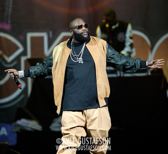 WASHINGTON, D.C. - April 3, 2011 - Rick Ross performs during the 'I Am Still Music' tour at the Verizon Center on April 3, 2011 in Washington, D.C.. (Photo by Kyle Gustafson/For The Washington Post) (Photo by Kyle Gustafson / For The Washington Post)