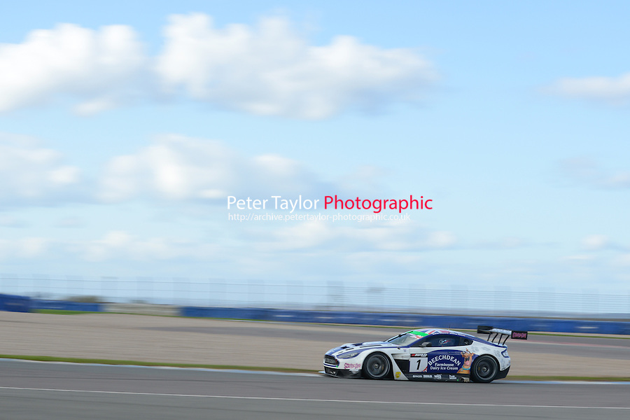 #001 Andrew Howard/Jonathan Adam - Beechdean AMR, Aston Martin Vantage GT3 2014 British GT Media Day. Donington Park, Derby, United Kingdom. 8th April 2014. World Copyright: Peter Taylor/PSP. Copy of publication required for printed pictures. Every used picture is fee-liable. World Copyright: Peter Taylor/PSP. Copy of publication required for printed pictures. Every used picture is fee-liable. http://archive.petertaylor-photographic.co.uk (Peter Taylor)