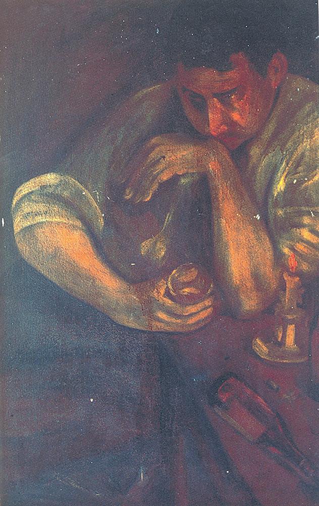Delia Weber de El Arrepentido. Óleo, madera. 86 x 55cm.