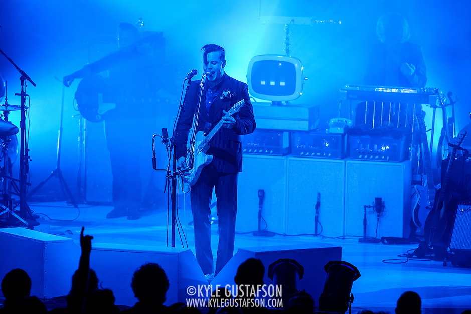 COLUMBIA, MD - September 14th, 2014 - Jack White performs at Merriweather Post Pavilion in Columbia, MD. White's career-spanning 20+ song set drew from his work with The White Stripes, The Dead Weather and The Raconteurs as well as his two solo albums.  (Photo by Kyle Gustafson / For The Washington Post) (Kyle Gustafson/For The Washington Post)