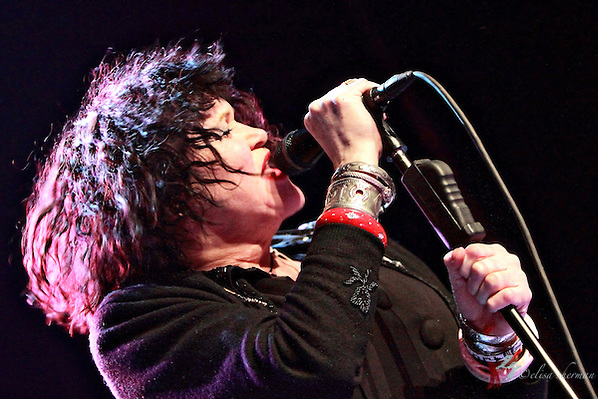 Exene Cervenka of X performs on December 31, 2010  at the Moore Theatre in Seattle, WA (Elisa Sherman)