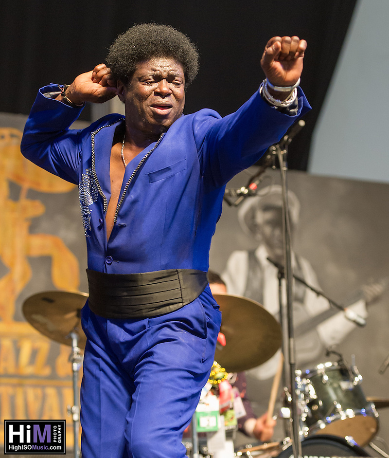 Charles Bradley performs at the 2013 New Orleans Jazz and Heritage Festival on April 27, 2013 in New Orleans, LA. (HIgh ISO Music, LLC)