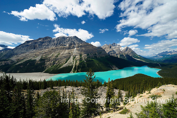 Peyto Lake from Bow Summit, Banff National Park, Alberta, Canada - From Banff to Jasper via Icefield Parkway Simon Kirwan