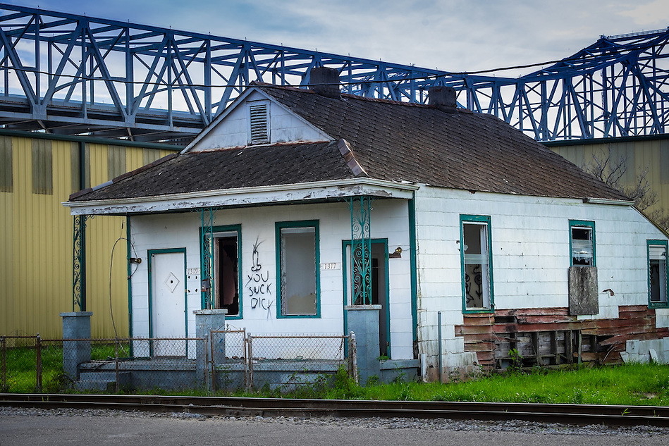 NEW ORLEANS - CIRCA FEBRUARY 2014: View of abandoned houses in Algiers Point, a popular community within the city of New Orleans in Louisiana. (Daniel Korzeniewski)