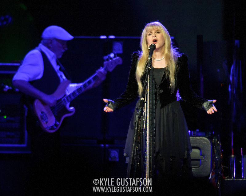 "WASHINGTON, DC - April 9th  2013 -  John McVie and Stevie Nicks of Fleetwood Mac perform at the Verizon Center in Washington, D.C. during the band's 2013 World Tour. Fleetwood Mac, touring for the first time since 2009, is including two new songs in their setlist, ""Sad Angel"" and ""Without You."" (Photo by Kyle Gustafson/For The Washington Post) (Kyle Gustafson/For The Washington Post)"