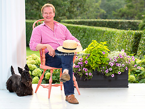 Portrait photography of P. Allen Smith on Tuesday, June 30, 2015, at Moss Mountain Farm in Roland, Arkansas. (Beth Hall)