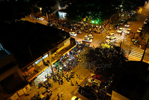 A view of general chaos in the centre of Belo Horizonte, Brazil, after Brazil beat Cameroon 4-1. Photo by Andrew Tobin/Tobinators Ltd (Andrew Tobin/Tobinators)