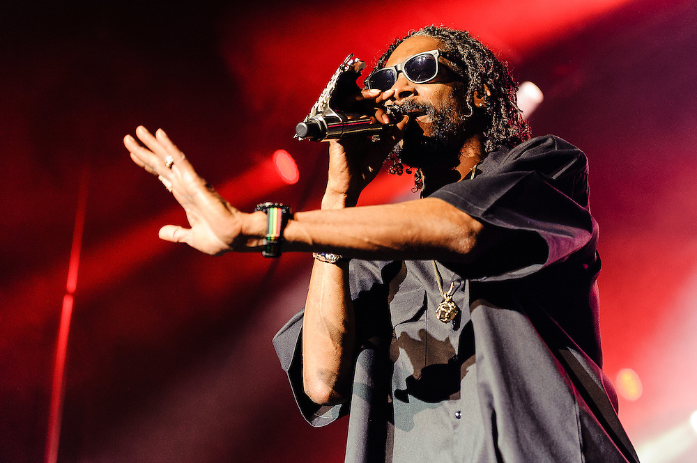 Photos of rapper Snoop Dogg performing at Catalpa Music Festival on Randall's Island, NYC. July 29, 2012. Copyright © 2012 Matthew Eisman. All Rights Reserved. (Photo by Matthew Eisman/ Getty Images)