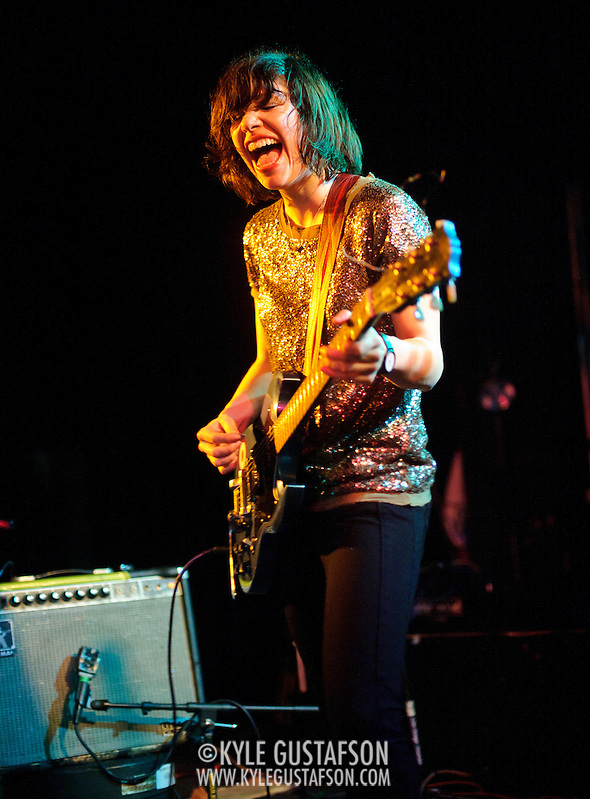 WASHINGTON, D.C. - March 10th, 2011: Carrie Brownstein  of WIld Flag performs at the Black Cat in Washington, D.C. The band consists of former members of Sleater-Kinney, Helium and The Minders and will record and release their debut album later this year.   (Photo by Kyle Gustafson/For The Washington Post) (Photo by Kyle Gustafson / For The Washington Post)