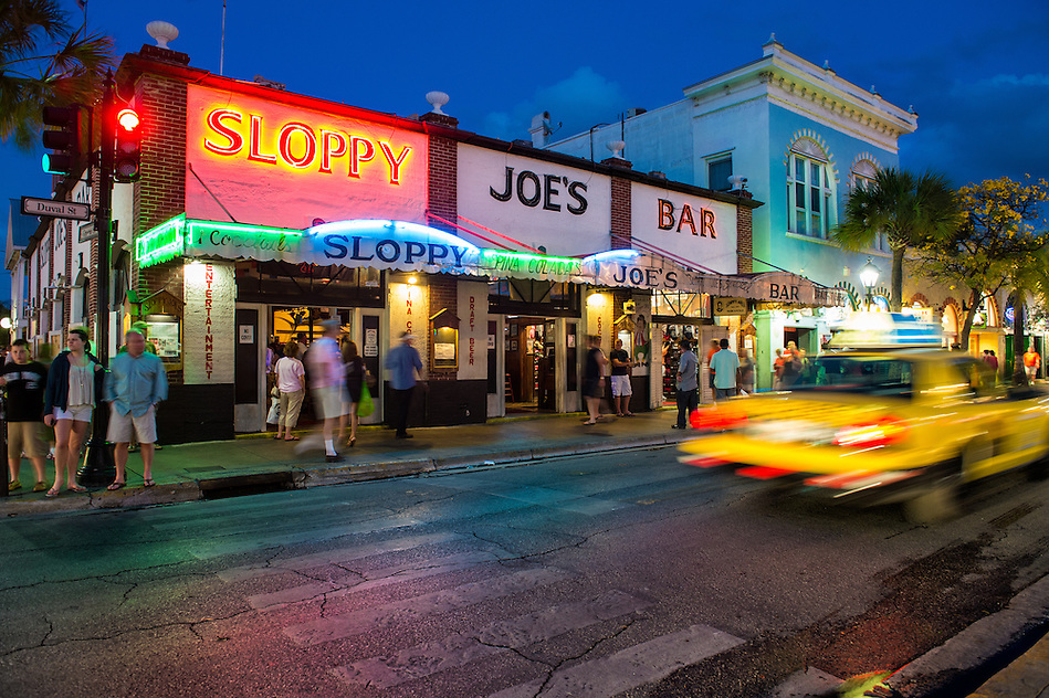 KEY WEST, FL - CIRCA 2012: View Slopppy Joe's Bar in Duval Street  a landmark in Key West circa 2012. The tropical city is a popular tourist destination with over 2 million yearly visitors. (Daniel Korzeniewski)