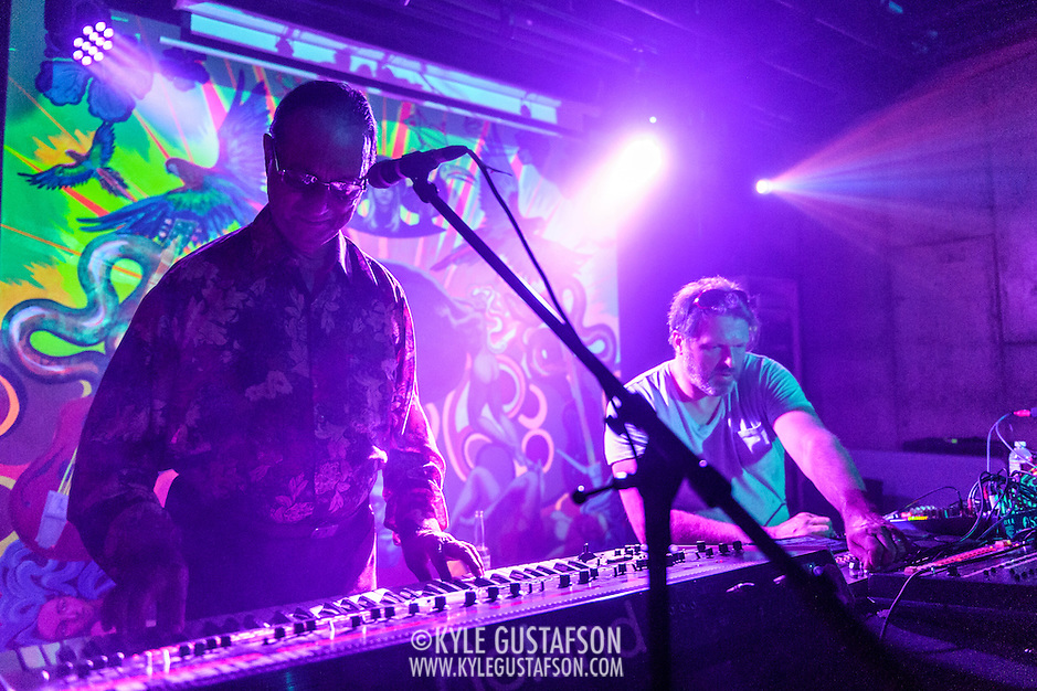 WASHINGTON, DC - August 7th, 2014 - Indian electronic music pioneer Charanjit Singh (left) performs songs from his seminal album, Ten Ragas to a Disco Beat, at Tropicalia in Washington, D.C. (Photo by Kyle Gustafson / For The Washington Post) (Kyle Gustafson/For The Washington Post)