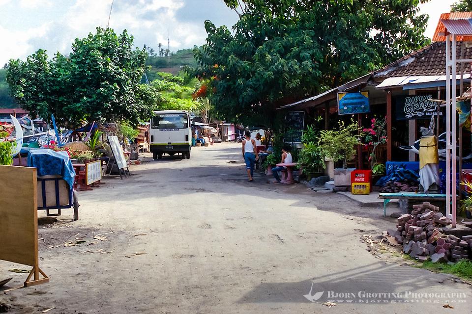 Bali, Karangasem, Padangbai. This small street that runs parallell to the beach. (Photo Bjorn Grotting)