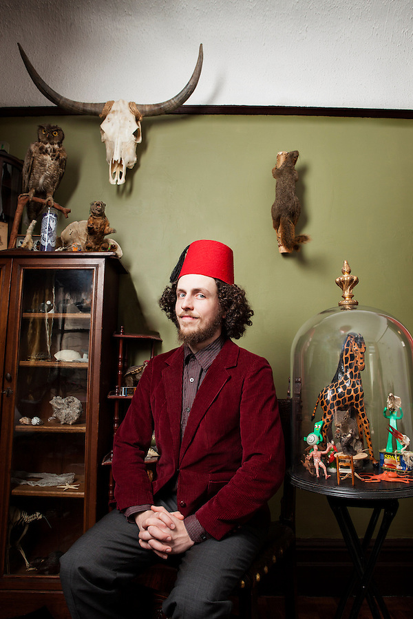 Wilder Duncan photographed in his parlor Brooklyn NY 2013 (David Neff)