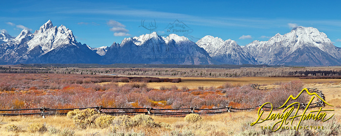 "Buckrail Fence, Grand Tetons, October snow, (© Daryl Hunter's ""The Hole Picture""/Daryl L. Hunter)"