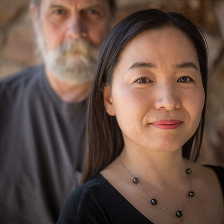 Artists Don Moore and Esther Hong, Anchorage (© Clark James Mishler)