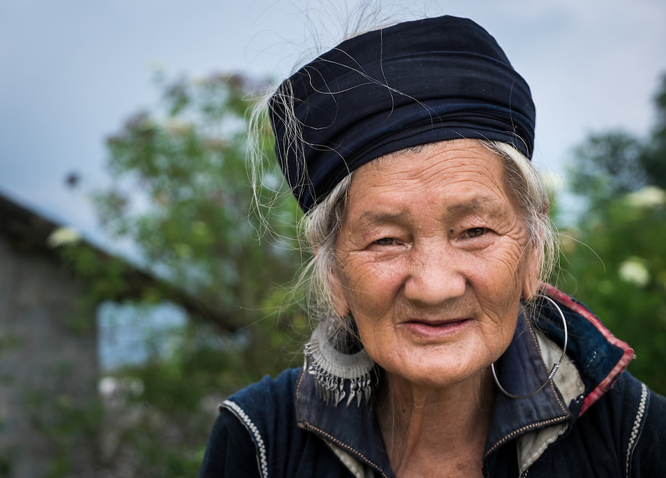 SAPA, VIETNAM - CIRCA SEPTEMBER 2014:  Portrait of woman from the Black Hmong minority in North Vietnam (Daniel Korzeniewski)