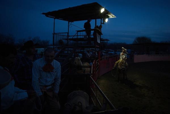 VON ORMY, TX - FEBRUARY 23: Charreada at Lienzo El Bajio in Von Ormy, Texas on February 23, 2014. (Photograph ©2014 Darren Carroll) (Darren Carroll)