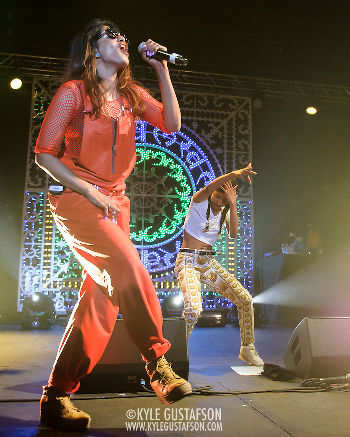 WASHINGTON, DC - APril 27th, 2014 - M.I.A. performs at Echostage in Washington, D.C. M.I.A. released her fourth album, Matangi, in November 2013. The album reached number one on the Billboard Dance/Electronic Albums chart. (Photo by Kyle Gustafson / For The Washington Post) (Kyle Gustafson/For The Washington Post)