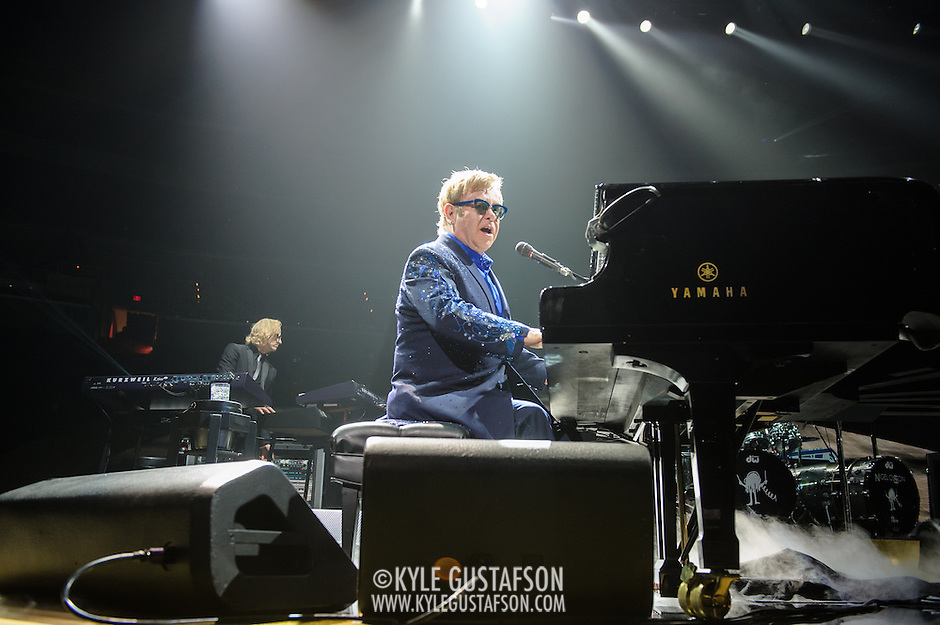 WASHINGTON, DC - November 14, 2013 - Sir Elton John performs at the Verizon Center in Washington, D.C. John's set featured songs from his newest album, The Diving Board, as well as a host of hits from his vast back catalogue. (Photo by Kyle Gustafson / For The Washington Post) (Kyle Gustafson/For The Washington Post)