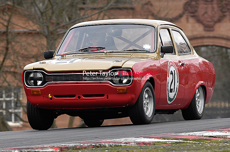 (21) - John Wright - Ford Escort/2000..Autoglym Post Historic Touring Car Championship.Oulton Park, Cheshire, United Kingdom.  28th-March 2009.World Copyright: Peter Taylor/PSP (Taylor/PSP)