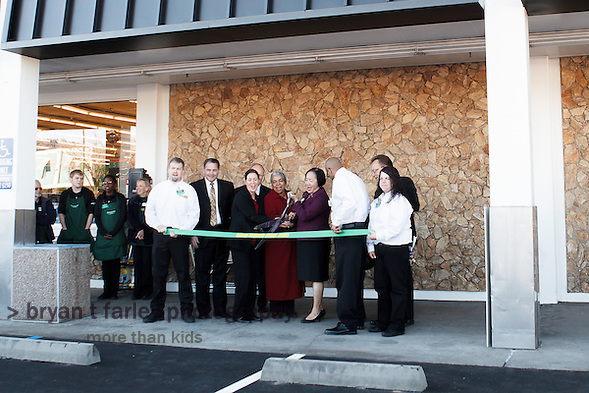 Save Mart Supermarkets held a grand opening for the new Maxx Value Foods in Oakland, California on Wednesday March 7, 2012. The new Maxx Value, the second in the Save Mart chain, was previously a Lucky grocery store. (bryan farley)