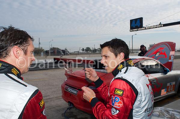 #44 Flying Lizard Motorsports Porsche 911 GT3 Cup: Spencer Pumpelly, Nelson Canache, Archie Hamilton (Darren Pierson) 2013 ALMS Winter Testing