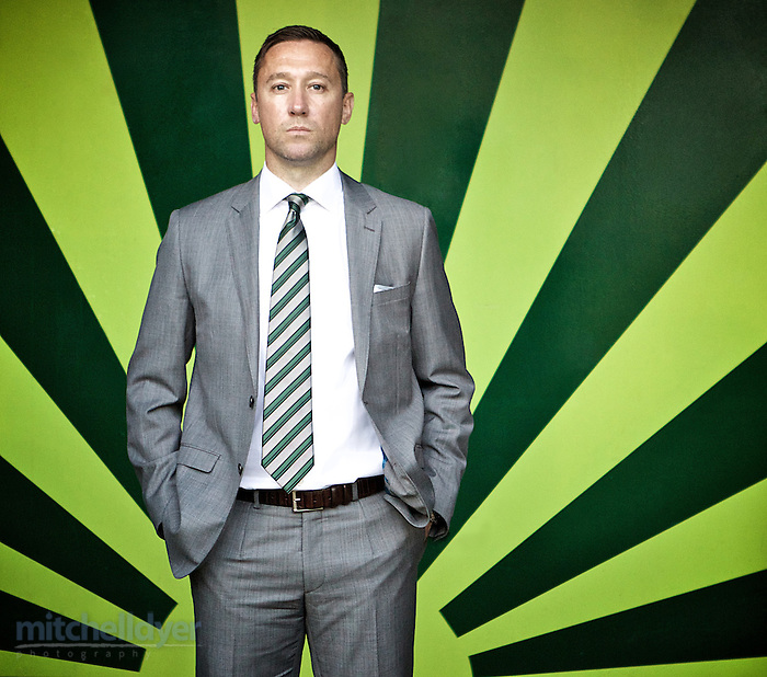 April 4, 2015; Portland, OR, USA; Portland Timbers head coach Caleb Porter watches warm ups before the match at Providence Park. Photo: Craig Mitchelldyer-Portland Timbers (Craig Mitchelldyer)