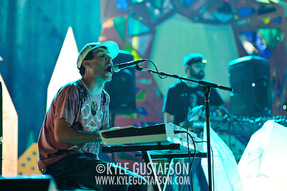 WASHINGTON, DC - July 9th, 2011 - Avery Tare and Geologist of Animal Collective perform at Merriweather Post Pavilion in Columbia, MD. The band named their eighth studio album after the venue.  (Photo by Kyle Gustafson/For The Washington Post) (Photo by Kyle Gustafson / For The Washington Post)