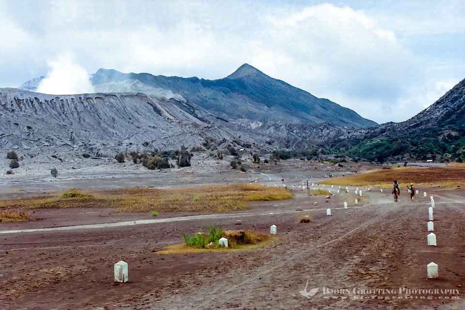 Java, East Java, Mount Bromo. Riding to Mount Bromo on the plain called the Sea of Sand. (Photo Bjorn Grotting)