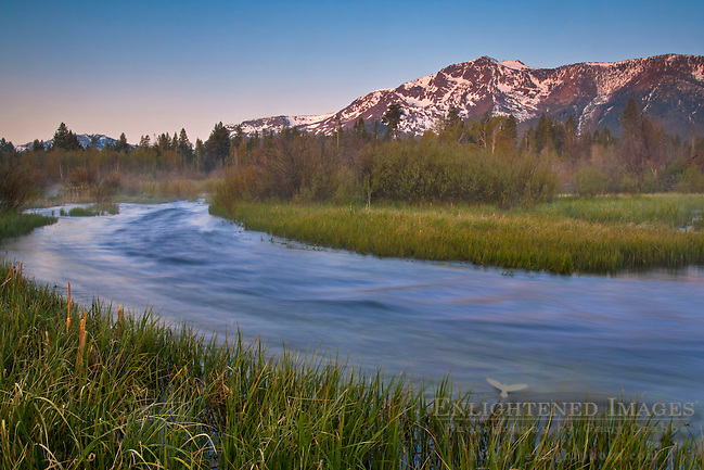 Mount Tallac at sunrise over Taylor Creek, near South Lake Tahoe, El Dorado County, California (Gary Crabbe)